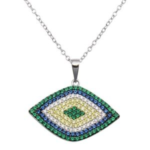 Jewelry - Large Multi Color Evil Eye Necklace